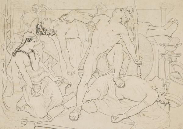 Achilles Addressing the Spirit of Patroclus over the Body of Hector
