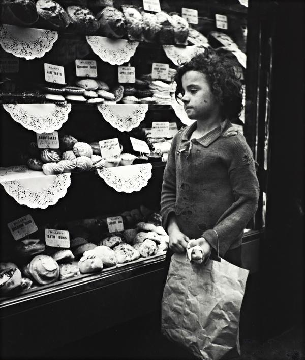 Child Staring into Bakery Window, London (Photographed about 1935)
