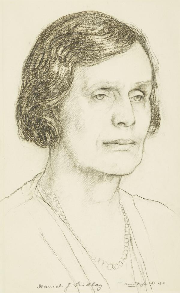 Harriet Jane Backhouse, Lady Findlay, 1880 - 1954. Wife of Sir John Findlay of Aberlour (1933)