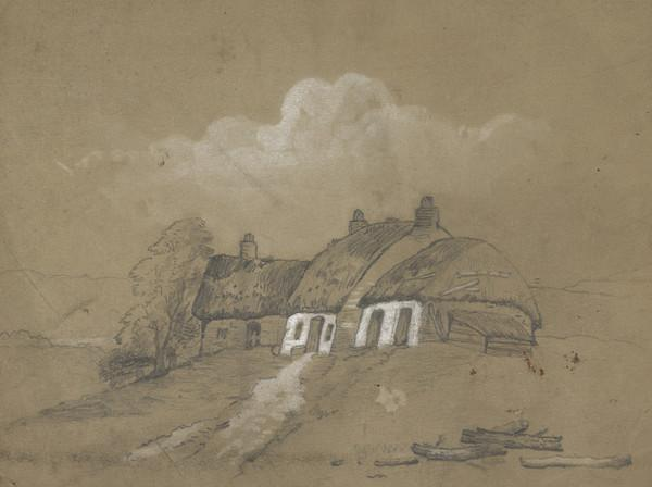 Thatched Cottage in Landscape