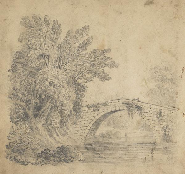 River Landscape with Stone Bridge