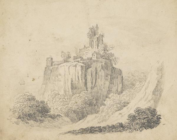 Ruined Castle on Cliff Top
