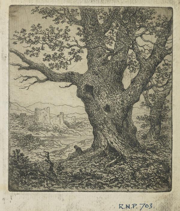 Landscape with Trees and a Castle (Dated Aug. '71)