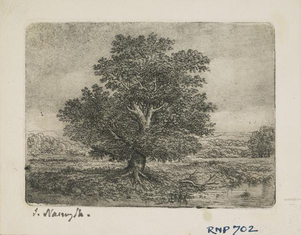 Landscape with Oak Tree (Dated 1871)