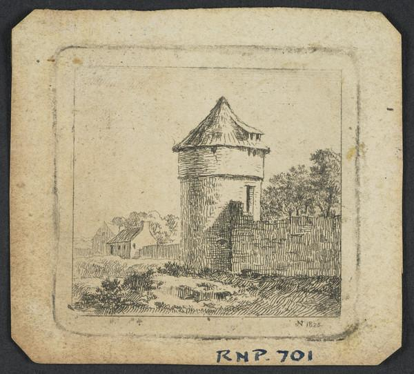 Landscape with a Round Tower (Dated 1825)