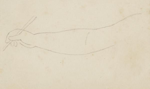Study of an Unknown Lady's outstretched arm holding a stick (1807 - 1835)