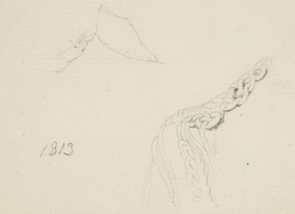 Two studies of an Unknown Officer's shoulder braid (1824)