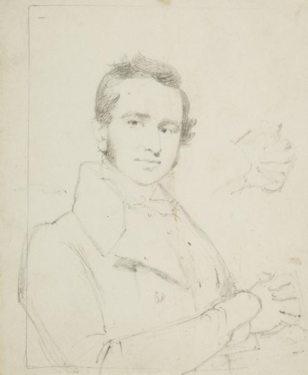 An Unknown Gentleman with a study of his hands (1807 - 1835)