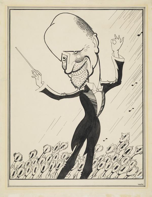 Sir Hugh Stevenson Roberton, 1874 - 1952. Founder of Glasgow Orpheus Choir (about 1935)