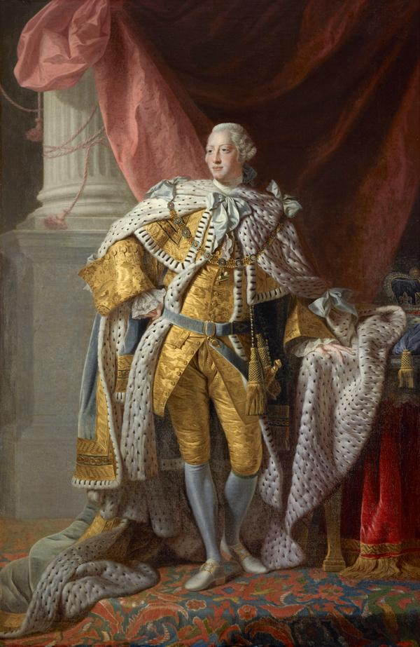 George III, 1738 - 1820. Reigned 1760 - 1820 (About 1763)