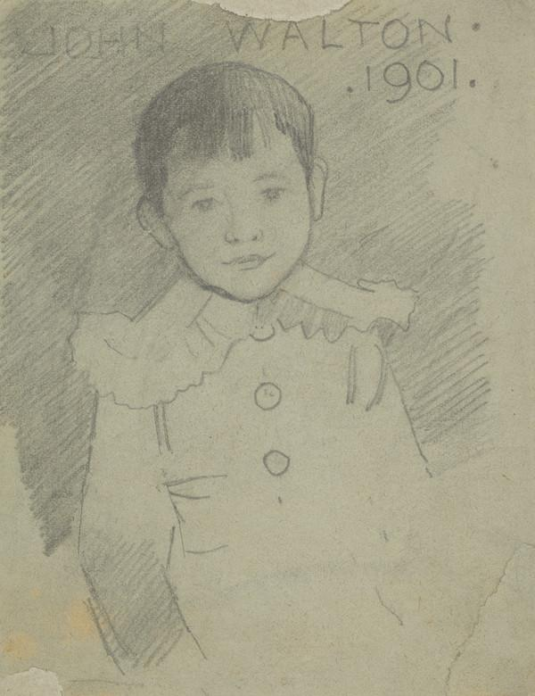 Professor John Walton, 1895 - 1971. Professor of Botany at Glasgow University (As a child) (Dated 1901)