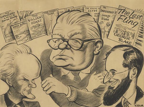George Blake, 1893 - 1961. Novelist (with Neil Gunn, 1891 - 1973, novelist, and Douglas Young, 1913 - 1973, poet) (Executed 1957)