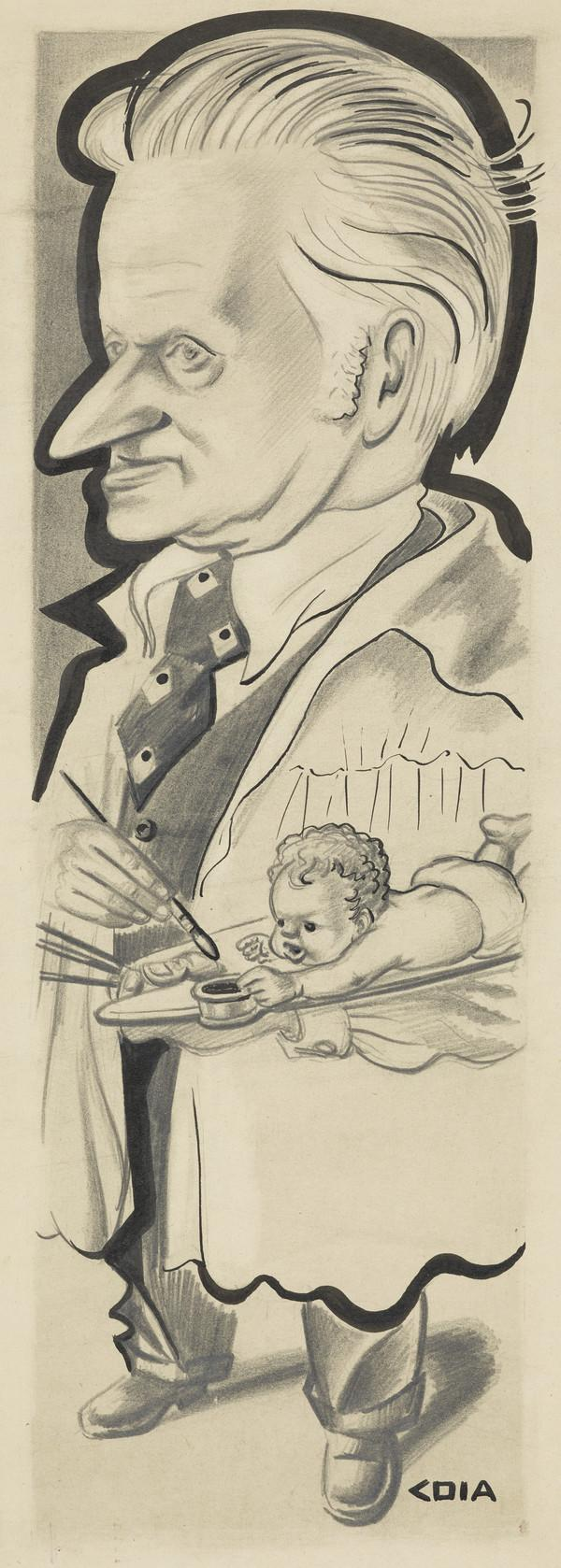 Archibald McGlashan, 1888 - 1980. Artist (Drawn c 1954)