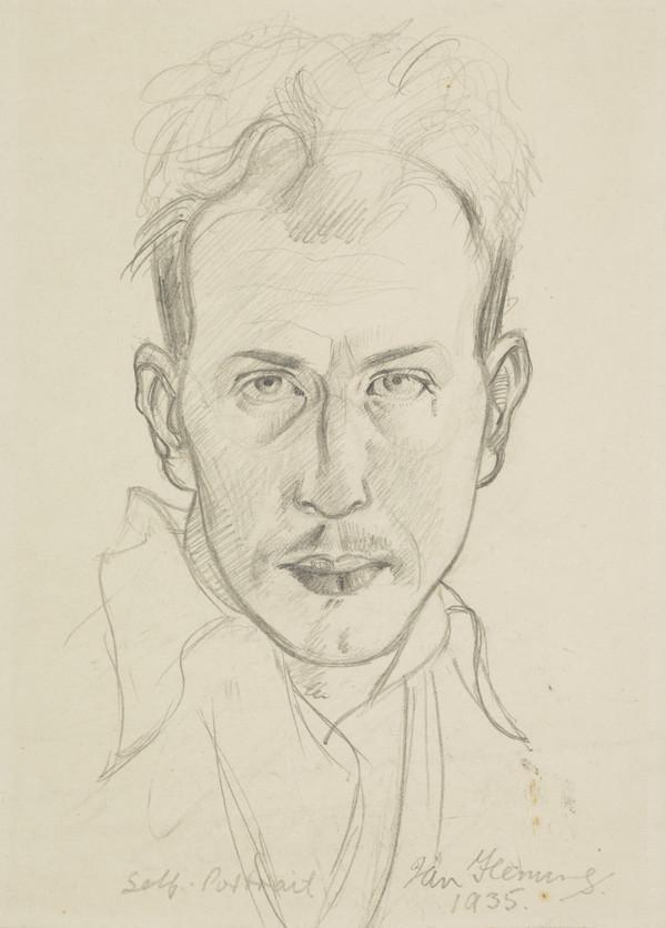 Ian Fleming, 1906 - 1994. Artist (Self-portrait)