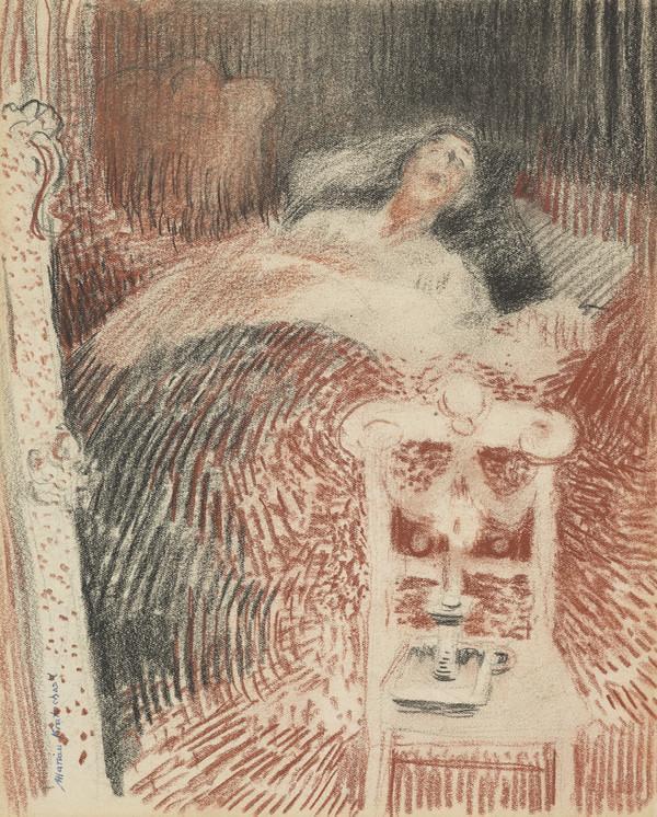 Ethel Walker, 1861 - 1951. Artist. (On her death-bed)