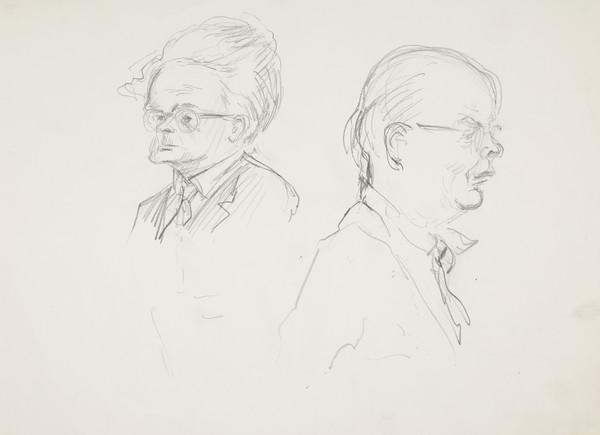 Christopher Murray Grieve ('nom de plume 'Hugh MacDiarmid'), 1892 - 1978, poet and Sorley Maclean (Somhairle MacGill-Eian), 1911 - 1996, poet