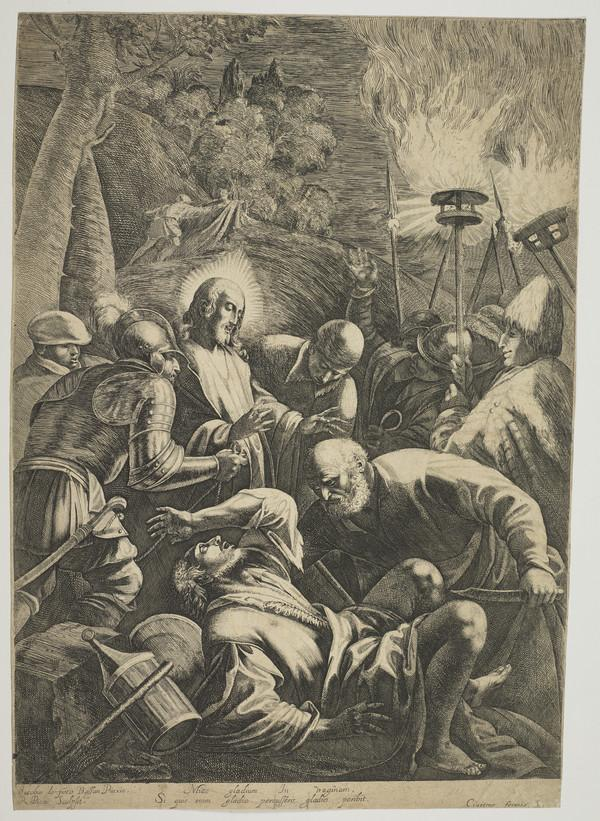 The Arrest of Christ in the garden of Olives
