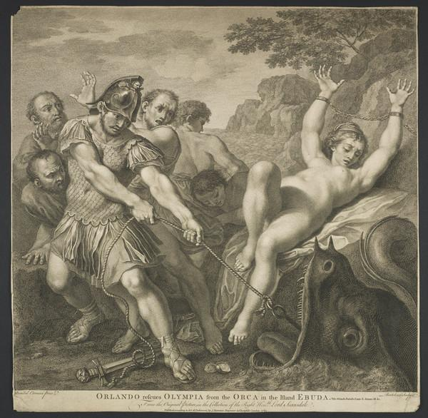 Orlando rescuing Olympia from the Orca (Published 1763 (London))