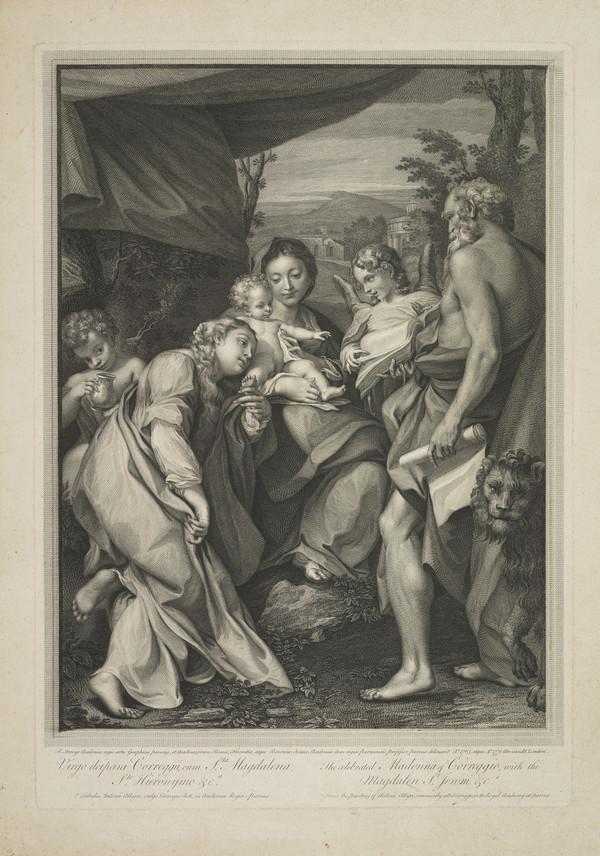 The Celebrated Madonna of Correggio with the Magdalene, Saint Jerome etc. (1763)