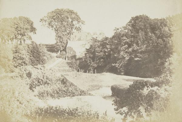 The drying green at Bonaly  [Landscape 7] (1843 - 1847)