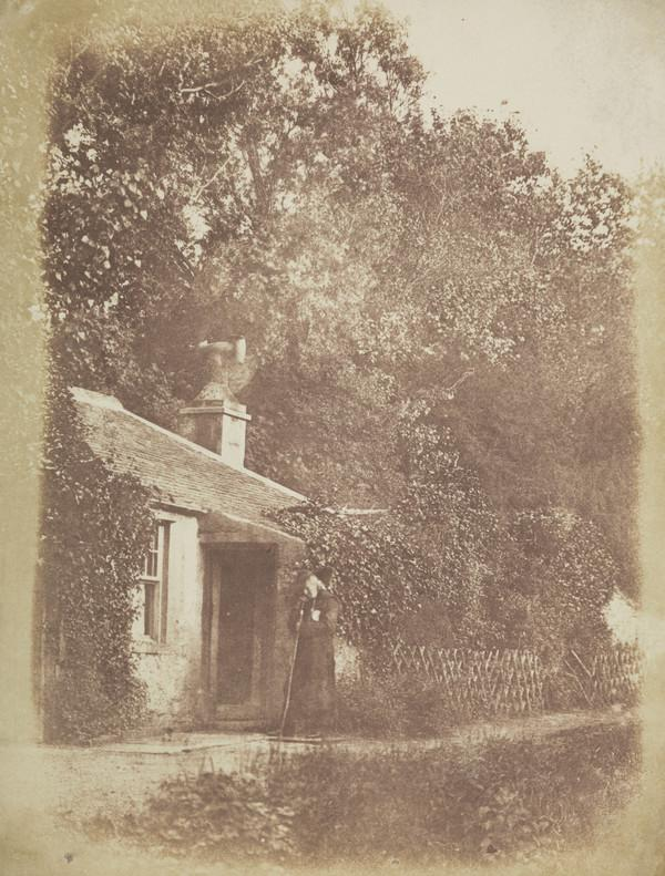 The Lodge at Bonaly with John Henning dressed as Edie Ochiltree [Landscape 5] (1843 - 1847)
