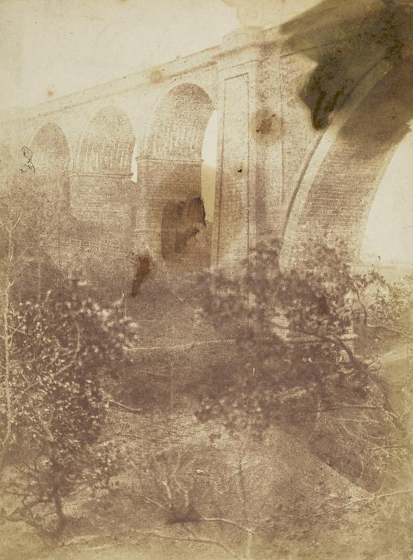 Ballochmyle Viaduct, part of the central span  and side arches [Landscape 30] (1843 - 1847)