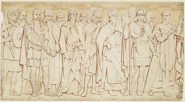 Scottish National Portrait Gallery; cartoons for processional frieze (From the Vikings to Septimius Severus) (Drawn c 1898)