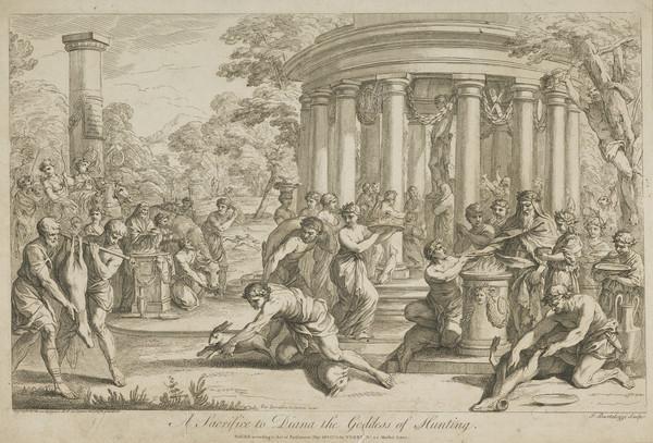 Sacrifice to Diana, Goddess of Hunting (Published 1776)