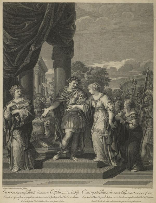 Caesar, Putting Away Pompeia, Receives Calpurnia as his Wife