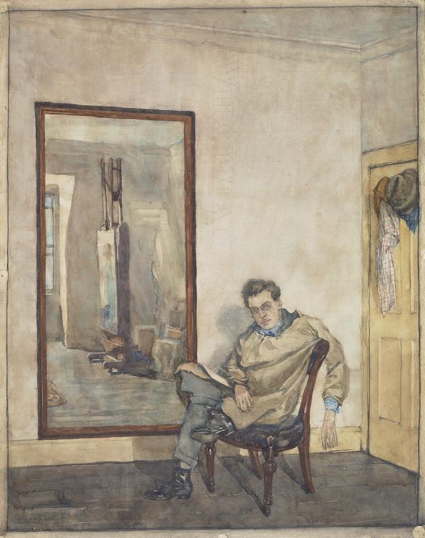 William Crozier, 1893 - 1930. Artist (Self-portrait)