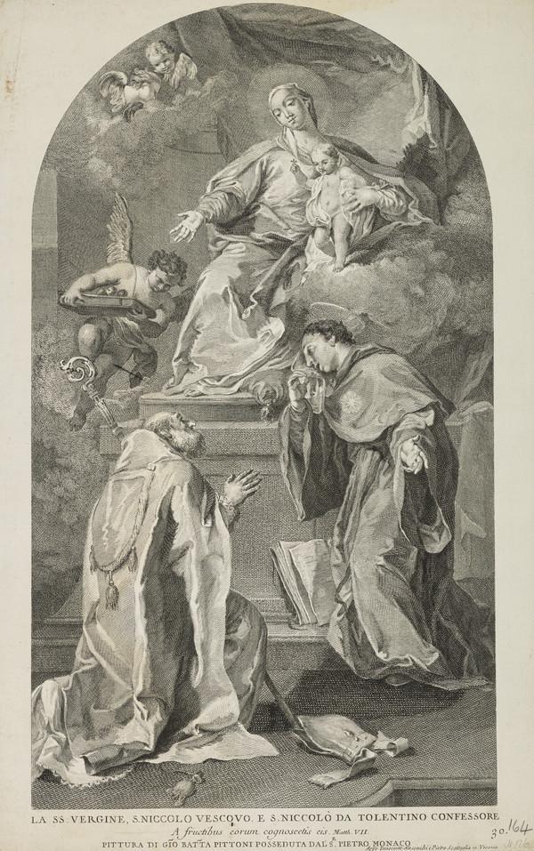 Virgin and Child with Two Saints, Nicholas Vescovo and da Tolentino Confessore