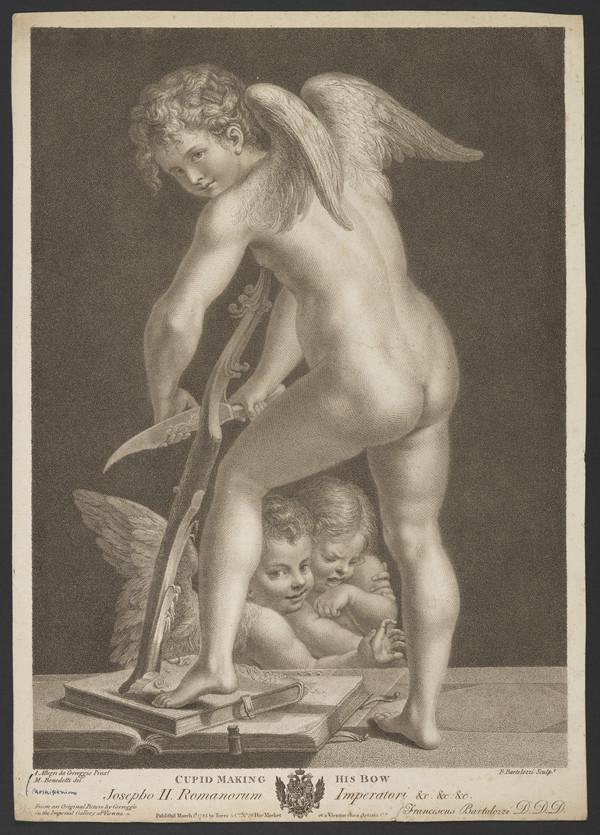 Cupid Making his Bow (Published 1785 (London and Vienna))