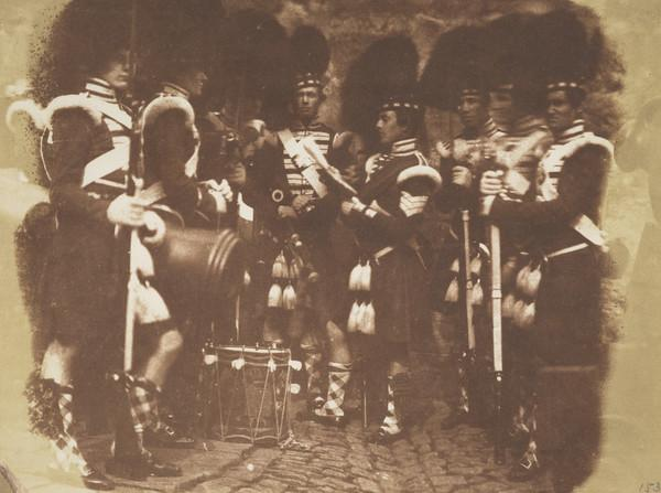 Sergeant of the 92nd Gordon Highlanders reading the orders of the day, Edinburgh Castle [Military 4]