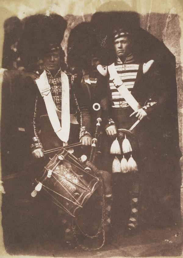 Piper and Drummer of the 92nd Gordon Highlanders, Edinburgh Castle