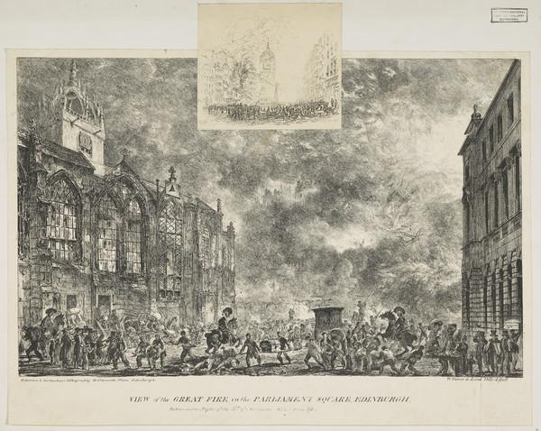 View of the Great Fire in the Parliament Square, Edinburgh (1824)