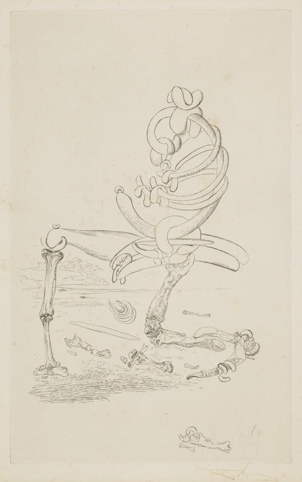 Untitled (Composition with Skeleton Figure) from 'Les Chants de Maldoror' (1934)