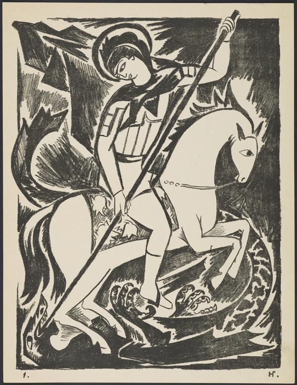 'St George' from the portfolio 'Images of War' (1914)