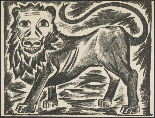 'The British Lion' from the portfolio 'Images of War' (1914)