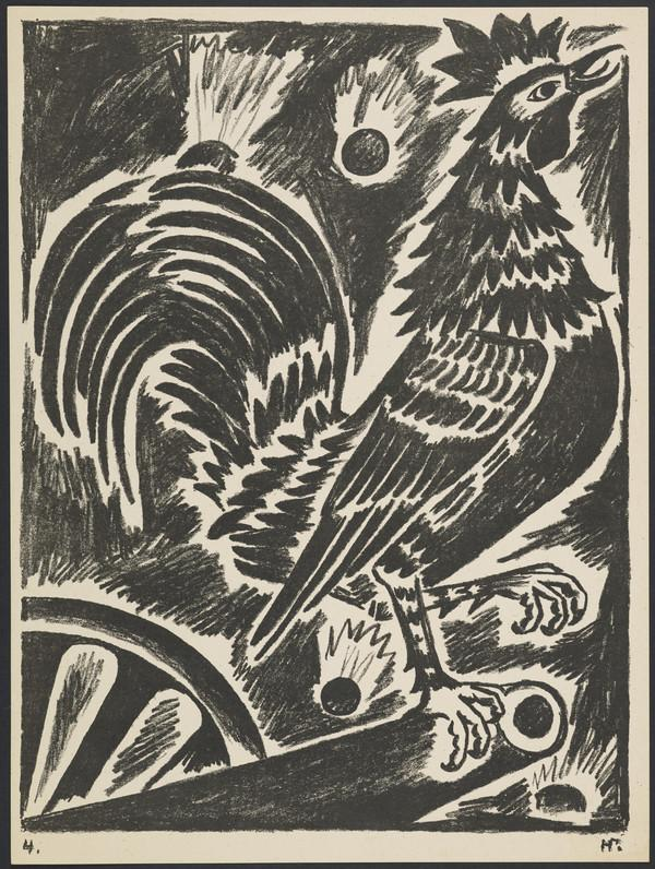'The French Cock' from the portfolio 'Images of War' (1914)