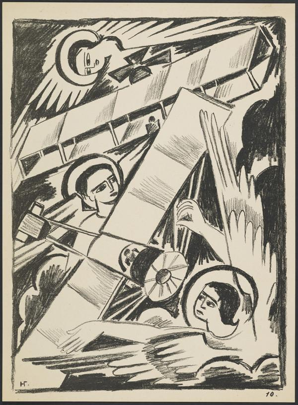'Angels and Aeroplanes' from the portfolio 'Images of War' (1914)
