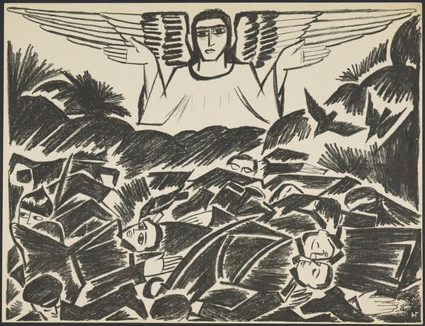 'Communal Grave' from the portfolio 'Images of War' (1914)