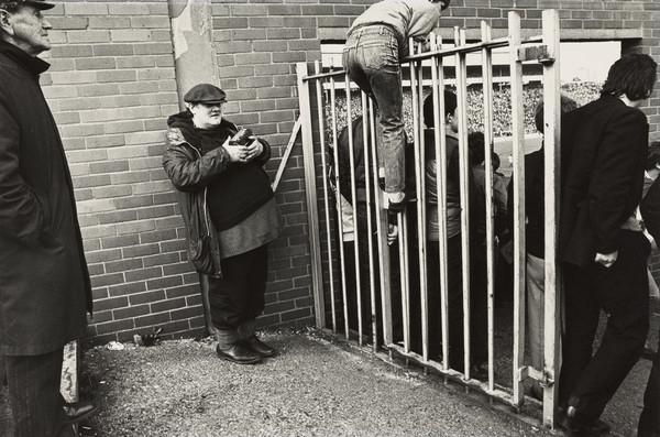 Hampden Park Football Ground, Man watching over Gate