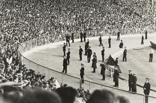 Hampden Park Football Ground, Police observing Crowd