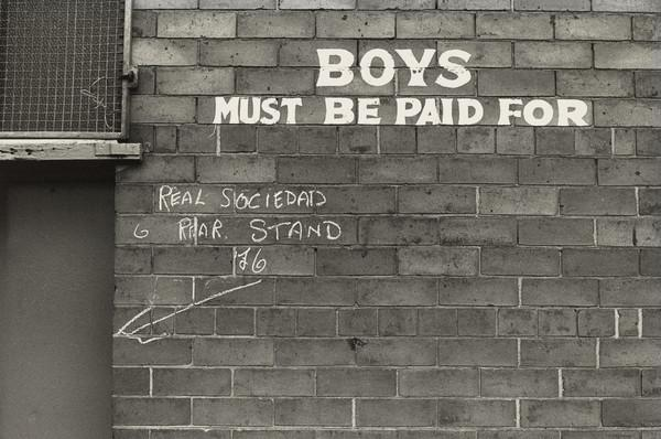 ? Celtic Park Football Ground, Rear Entrance, 'boys must be paid for'