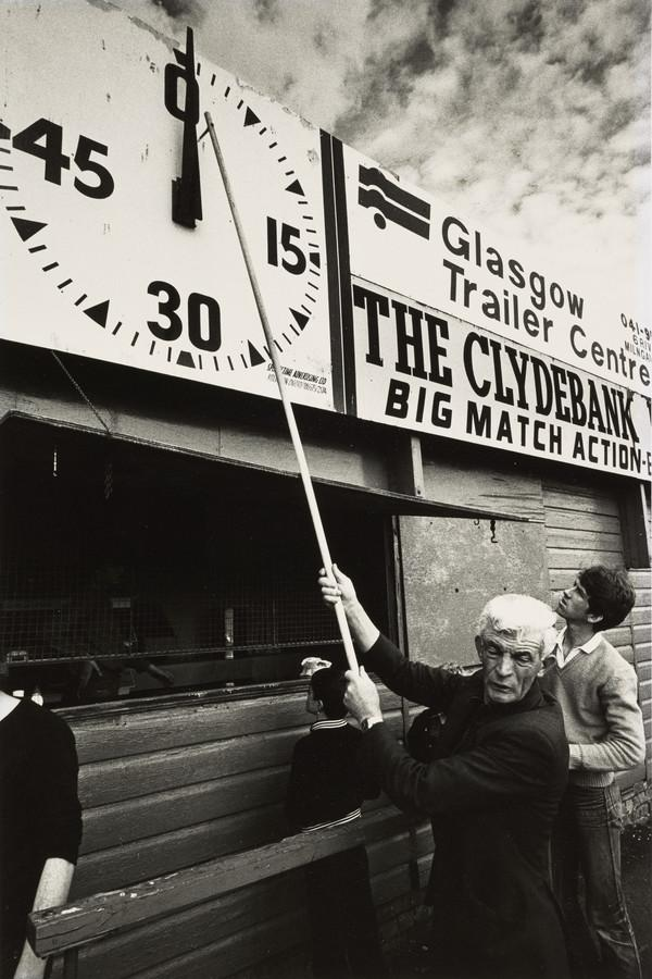 Clydebank Football Ground, Man resetting the Timing Clock