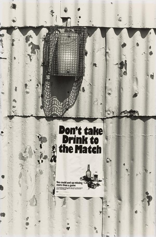 Hampden Park Football Ground, 'Don't take drink to the match' poster