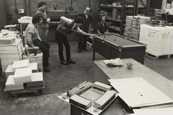 Men playing Snooker at Ibrox