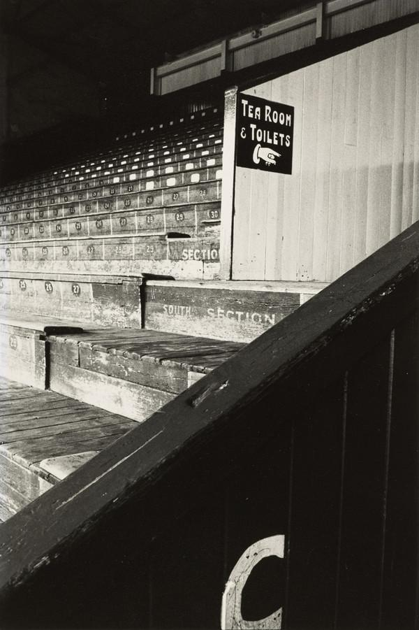 Football Ground, Sign for Tearoom and Toilets