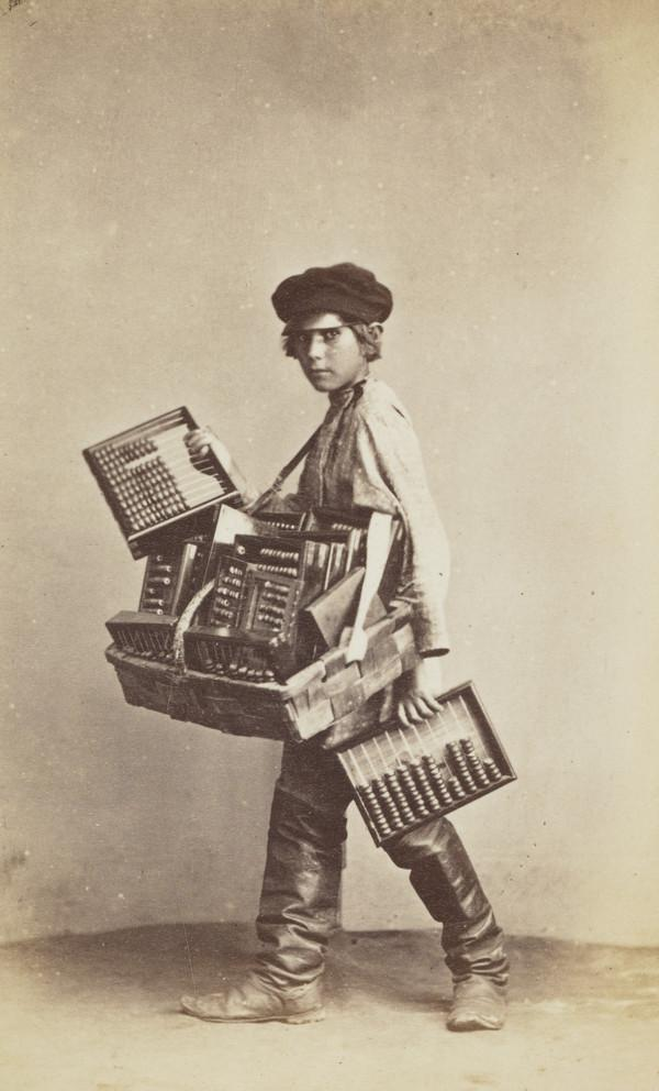 An Abacus Seller, St Petersburg (About 1860)