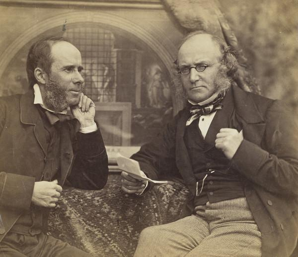 'Horae Subsecivae' (Title of a series of essays written by Dr John Brown) - John Taylor Brown and Dr John Brown (About 1860)